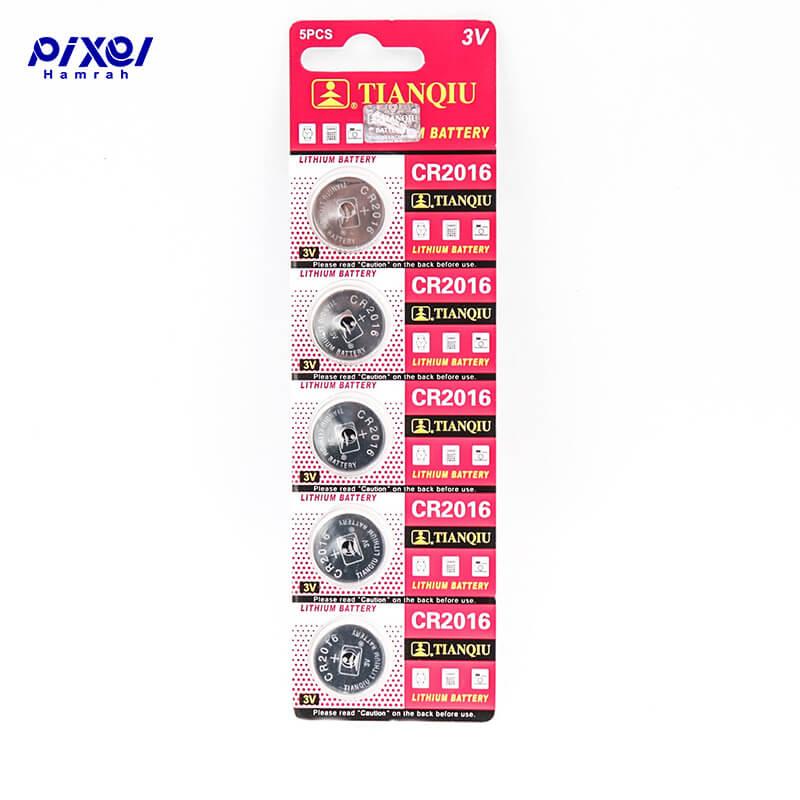 باتری سکه ای TIANQIU 2016 بسته 5 عددی