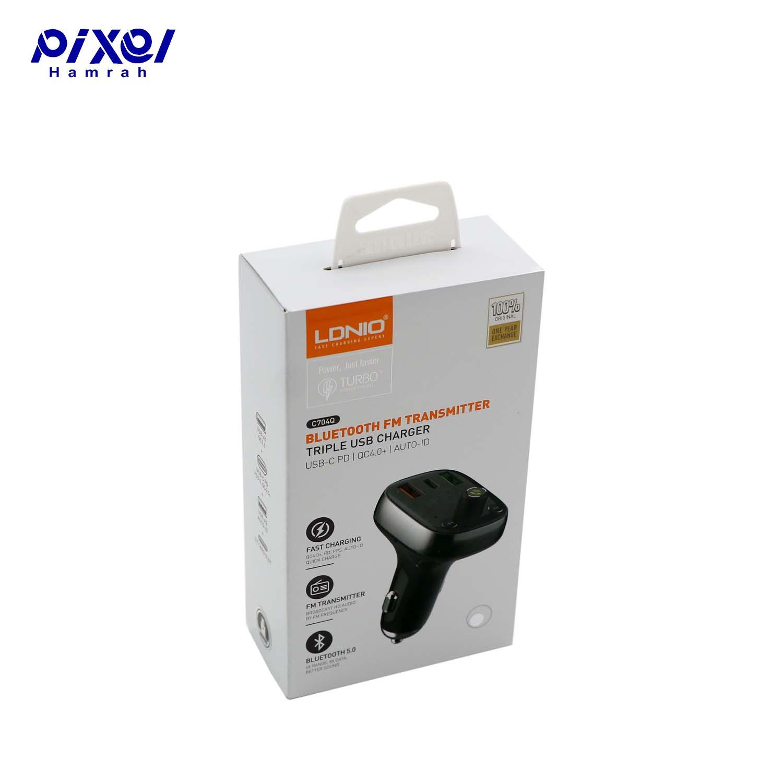 شارژر فندکی 5A LDNIO C704Q FM Player به همراه کابل میکرو یو اس بی